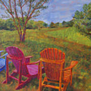 Adirondack Chairs In Leiper's Fork Poster