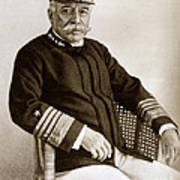 Admiral Of The Navy George Dewey Seen In 1899 On The Uss Olympia Poster