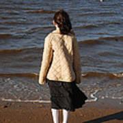Admiring The Ocean Poster