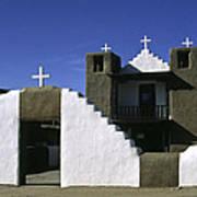 Adobe Church Taos Poster