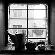 Adobe Window Autumn Still Life Poster