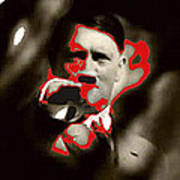 Adolf Hitler Saluting Screen Capture From Newsreel No Date-2008 Poster