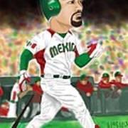 Adrian Gonzalez Team Mexico Poster