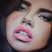 Adriana Lima Oil On Canvas Poster