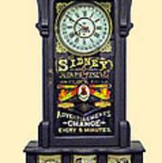 Advertising Clock Poster