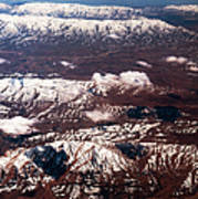 Aeial View Of The Snowy Mountains Poster
