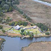 Aerial Jekyll Island Area Poster