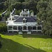 Aerial Of Jefferson Mansion Poster