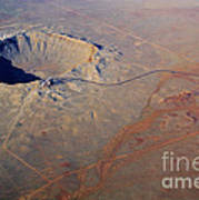 Aerial Of Meteor Crater Poster
