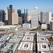 Aerial Of The Houston Skyline Poster