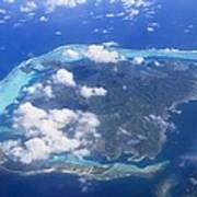 Aerial Over Atoll Poster