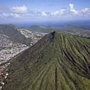 Aerial View Honolulu Hawaii Poster