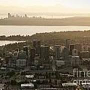 Aerial View Of Bellevue Skyline Poster