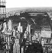 Aerial View Of Central Park Poster