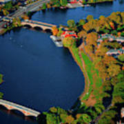Aerial View Of Charles River With Views Poster