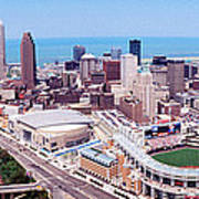 Aerial View Of Jacobs Field, Cleveland Poster