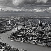 Aerial View Of London 4 Poster
