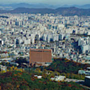 Aerial View Of Seoul South Korea Poster