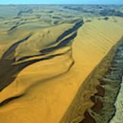 Aerial View Of Skelton Coast, Namib Poster