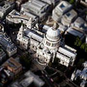 Aerial View Of St Pauls Cathedral Poster