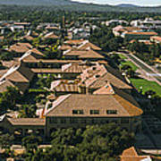 Aerial View Of Stanford University Poster