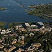 Aerial View Of The New Husky Stadium Poster
