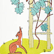 Aesop: Fox And Grapes Poster