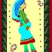 Afghan Pregnant Woman Poster
