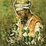 Afghani Harvest - Watercolor Poster