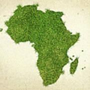 Africa Grass Map Poster