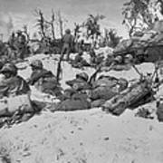 African American Marines Move Poster