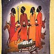 African Christmas Nativity Poster