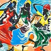African Dancers No. 2 Poster