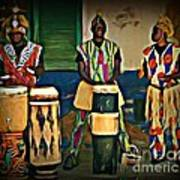 African Drummers Poster