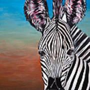 African Zebra Poster