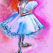 After Master Degas Ballerina With Fan Poster