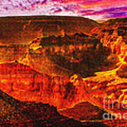 Afterglow Grand Canyon National Park Poster
