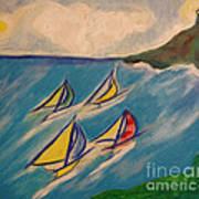 Afternoon Regatta By Jrr Poster by First Star Art