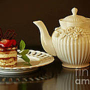 Afternoon Tea And Tiramisu Poster