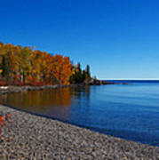 Agate Beach On Lake Superior Poster by Steve Anderson