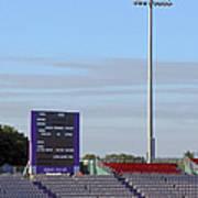Ageas Bowl Score Board And Floodlights Southampton Poster