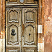 Aged Door In Provence Poster