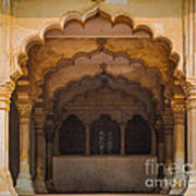Agra Fort Arches Poster