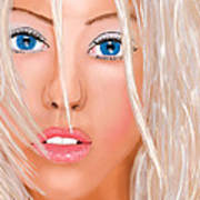 Aguilera Beautiful Poster