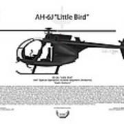 Ah-6j Little Bird Poster