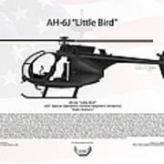 Ah-6j Little Bird Night Stalkers Poster