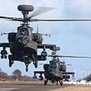 Ah64d Apache Longbow Helicopters  Poster