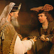 Ahimelech Giving The Sword Of Goliath To David Poster