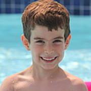 Aidan At The Pool Poster