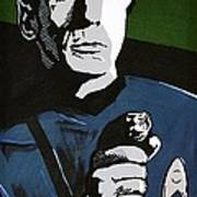 Aiming His Phaser Poster by Judith Groeger